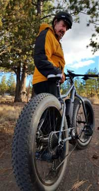 Worland Riding His Fat Tire Electric Bike