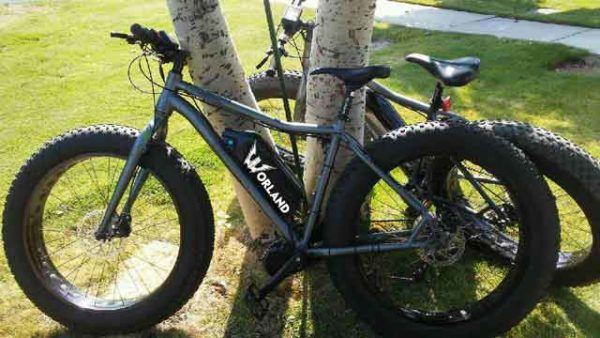 "Shop Electric Bicycles -Worland Maverick 5"" Fat Tire Electric Bike"