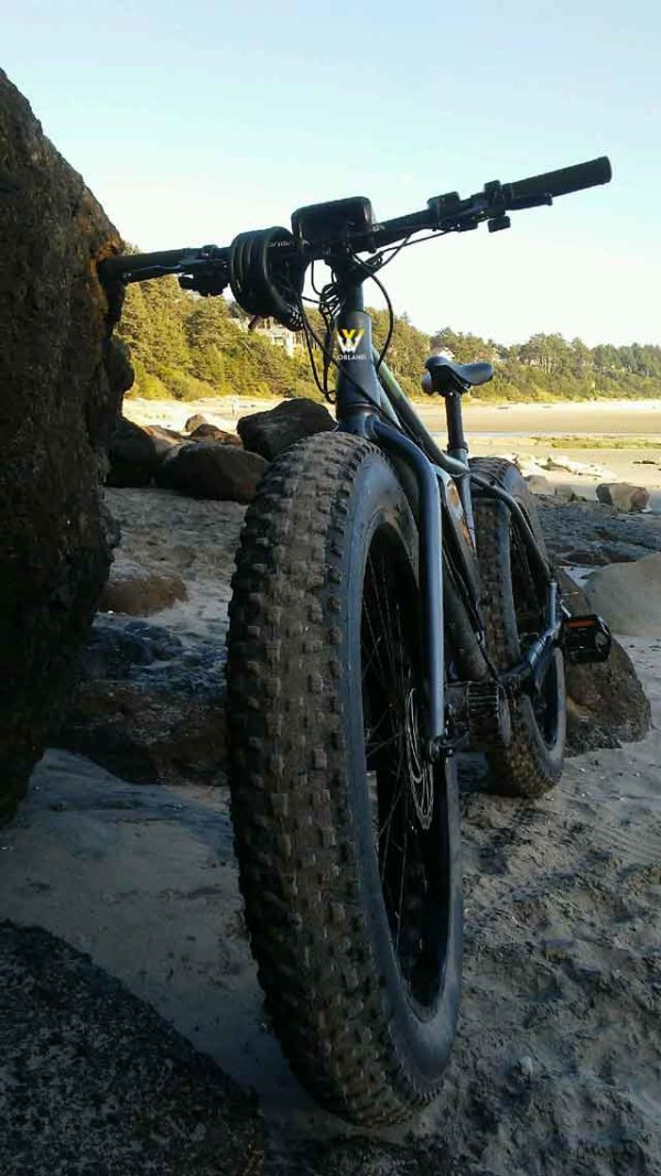 Shop Electric Bicycles -Worland Maverick Fat Tire Electric Bike at the Beach