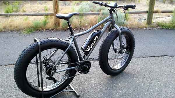 "Shop Electric Bicycles - Worland Maverick 5"" Fat Tire Electric Bike 1000W"