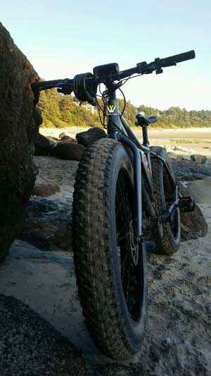 Worland Electric Bicycle on Sand
